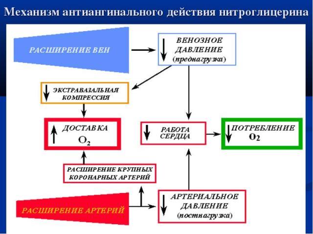 Как действует нитроглицерин