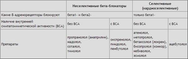 бета-адреноблокаторы и их механизм действия