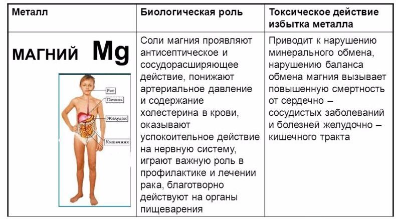 избыток магния в организме