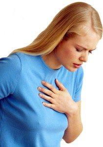 тупая боль за грудиной