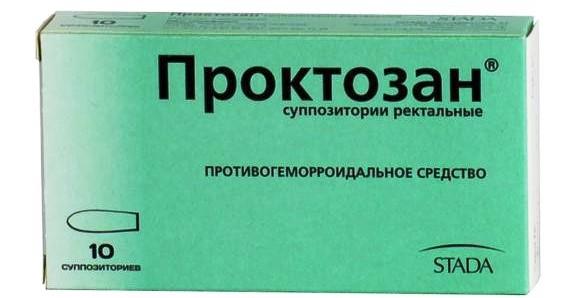 Проктозан при лечении геморроя