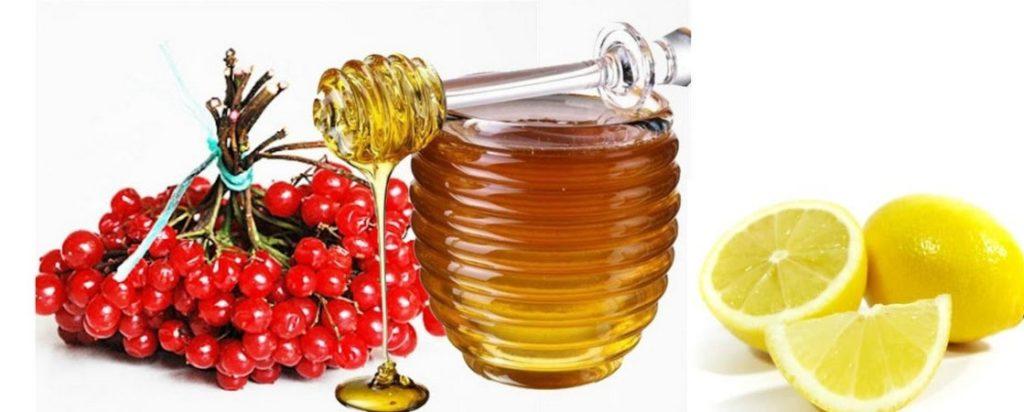 калина и мед и лимон