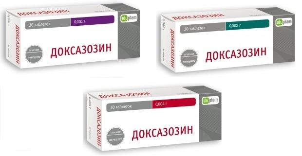 доксазозин таблетки