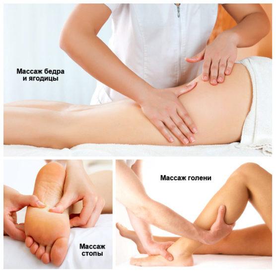 последовательность массажа ног