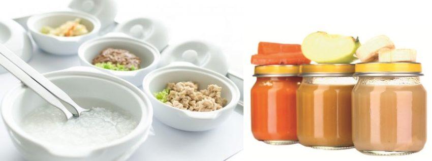 протертые блюда и фруктовое пюре