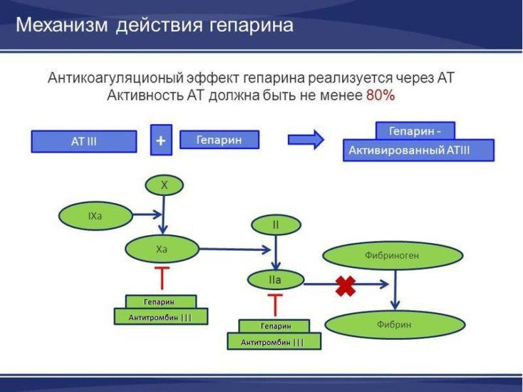 гепарин и антитромбин 3