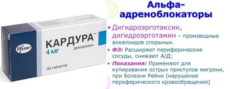 Альфа-адреноблокаторы при повышенном давлении