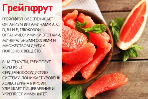 Польза грейпфрута при высоком холестерине