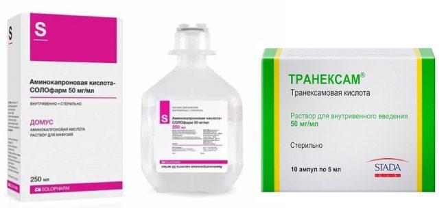 Аминокапроновая кислота и транексам